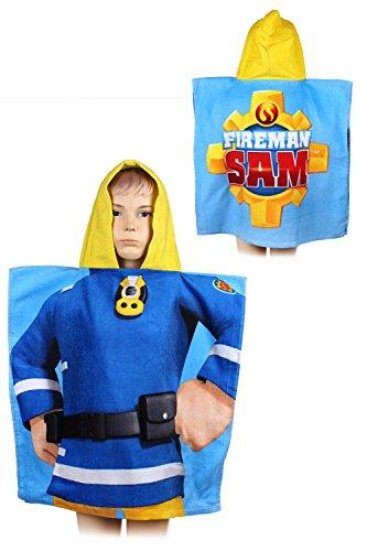 Sam le pompier 821-349 Poncho de bain pour enfant