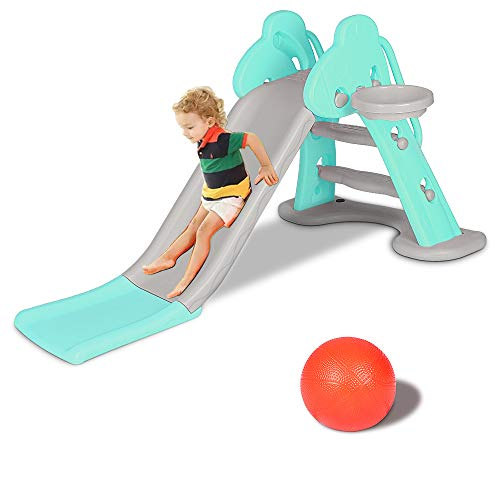 Bigzzia Kids Slide, Sturdy Toddler Playground Slipping Slide Climber...