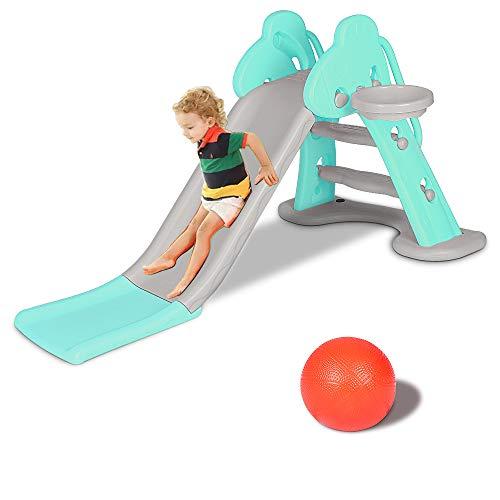 Bigzzia Kids Slide, Sturdy Toddler Playground Slipping Slide Climber...