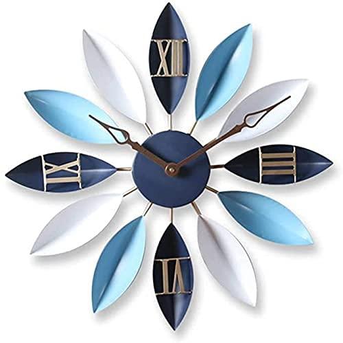 J-Love Reloj Pared Grande Vintage, Sala Estar nórdica, Arte Moda, Reloj Dormitorio silencioso para niños, Reloj Colgante Mesa para el hogar