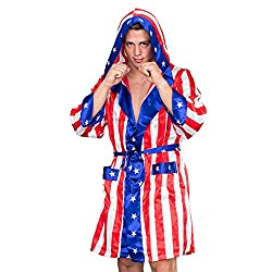 Patriotic boxing robe for rally super-hero costuming