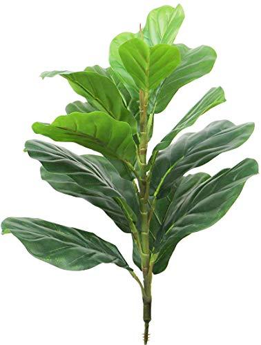 Árbol de higuera artificial de 22 pulgadas, plantas sintéticas naturales de imitación de ficus de lirata con 15 hojas, verde para el hogar, boda, patio, decoración interior y exterior