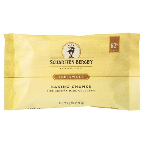 SCHARFEEN BERGER Baking Chocolate Chunks, Bittersweet, 6 Ounce (Pack of 5)