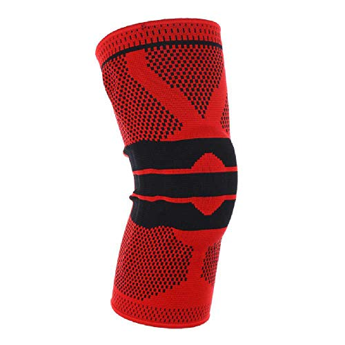 N\\C Sport Knieschoner Laufen Basketball Klettern Sport Schutzausrüstung Fitnessbedarf Rot XL / 1