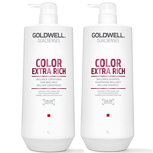 Goldwell DualSenses Color Extra Rich Brilliance Shampoo 1000 ml und Conditioner 1000 ml.