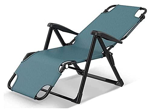 ZOUJIANGTAO Plegable Cero Gravedad salón sillón sillas Patio Ajustable reclinable jardín al Aire librepatio Sol tumbonas Oxford (Color : Blue, Size : 167x67x40cm)