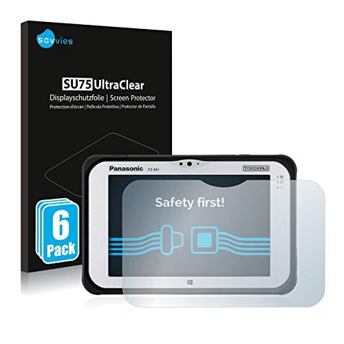 Savvies 6X Schutzfolie kompatibel mit Panasonic Toughpad FZ-M1 Bildschirmschutz-Folie Ultra-transparent