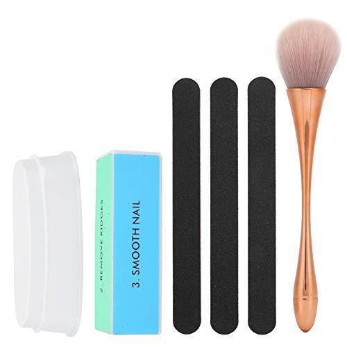 Changor Set de Bandeja de Polvo de inmersión, uñas para el Plumero de uñas Forma Removedor de Polvo de Arte para Maquillaje