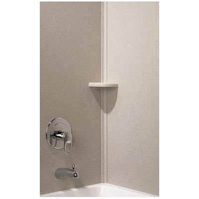 Swanstone CM00072.072 Solid Surface 2-Pieces Shower Molding Kit, 0.5-in L X 1.25-in H X 72-in H, Pebble
