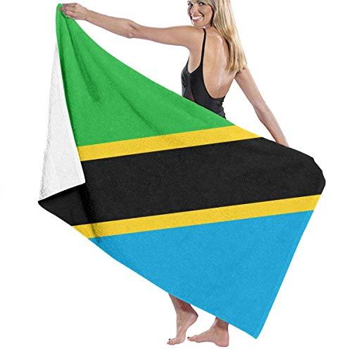 Strandtuch Badetuch Saunatuch Duschtuch Ultra Leicht Handtuch Schnelltrocknend Saugfähiges Sporthandtuch Flagge von Tansania 130X80cm