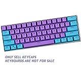 Sunzit Keycaps, 61 Keycaps Backlight Due Colori Meccanica Tastiera PBT Keycap per GH60 / RK61 / ALT61 / Annie/Keyboard Poker Keys (Vendi Solo i keycap)