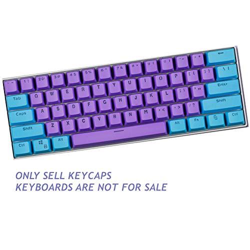 Sunzit Keycaps, 61 Keycaps Backlight Zweifarbig Mechanische Tastatur PBT Tastenkappe für GH60 / RK61 / ALT61 / Annie/Keyboard Poker Keys - F