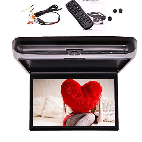 Lo nuevo de 13,3 pulgadas 16: 9 ultrafina digital FHD IPS DVD de pantalla de arriba 1080P coches reproductor montado en el techo Unidad puerto HDMI del monitor 1920x1080 FM / TR Transmisor Automoti