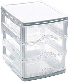 Mini Cajonera de plástico 3 cajones - Blanco 17x135x165 cm