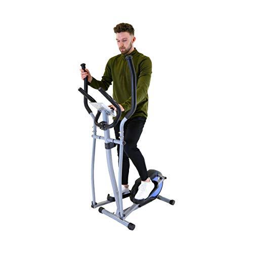 Charles Bentley Cross Trainer - Magnetic Elliptical 5 kg Flywheel LCD & Non Slip with Heart Rate Monitors on Handlebars