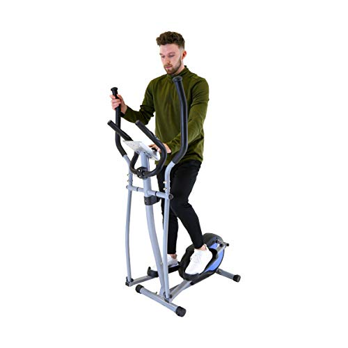 Charles Bentley Magnetic Elliptical Cross Trainer Blue 5kg Flywheel LCD Screen Non Slip...