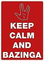 プライベートサイン、インチ、キープカーム、バジンガ装飾ウォールアート用ノベルティアートサインホーム屋内屋外ヤードサイン駐車場ヴィンテージルックサインバー壁の装飾
