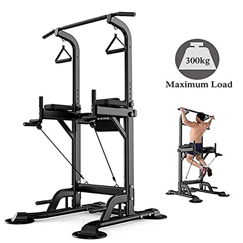 NYANGLI Power Tower Dip-Stationen, Multi-Funktions-Klimmzugbügel Dip-Station Für Krafttraining, Training Bauch-Übung, Push Up Ausrüstung Von Home Gym Übung,Schwarz