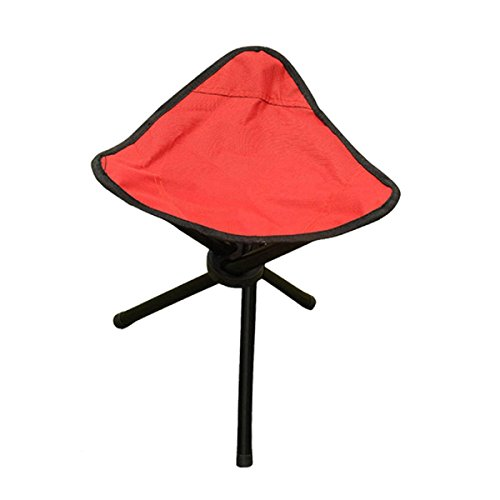 GAOJIAN Outdoor Art Sketch Chaise Pliante Toile Chaise de pêche Leisure Tablier Triangulaire Tabouret Portable, Red