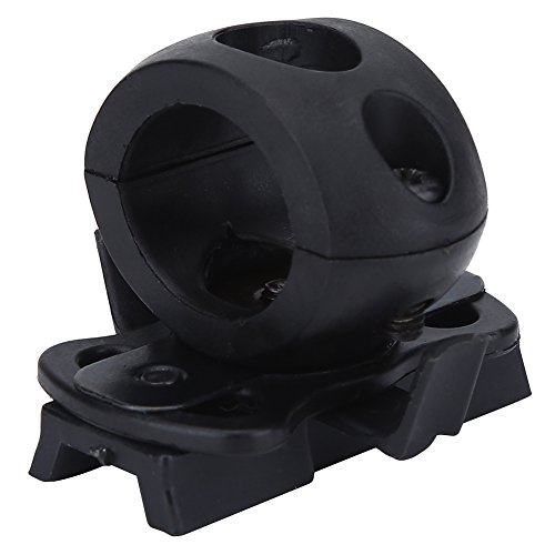 Yosoo Health Gear Porta Torcia per Casco, Plastica Portatile 21mm/0.82 Pollici Porta Flash per Casco, Supporto per Torcia Supporto per Torcia Supporto per Torcia con Viti per Casco Veloce (Nero)