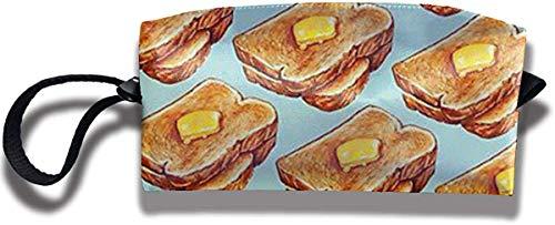 NA Toast-Muster Reise-Make-up-Tasche Kosmetiktaschen Kulturbeutel Clutch Pouch Mehrzweck-Organizer-Tasche