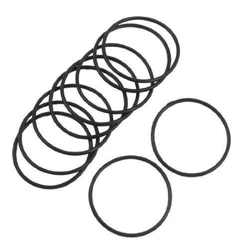Sourcingmap 10Stück 40mm x 2mm Flexible Filter Gummi-O-Ring-Dichtung Schwarz DE de