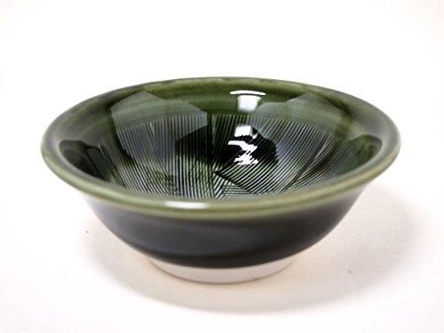 GREEN-SURIBACHI 10,7cm tazón pequeño japonés original de porcelana