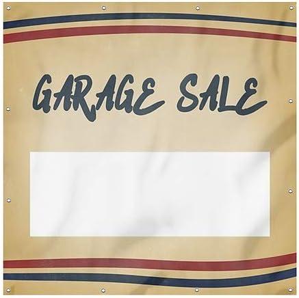 Nostalgia Stripes Heavy-Duty Outdoor Vinyl Banner Garage Sale 6x6 CGSignLab