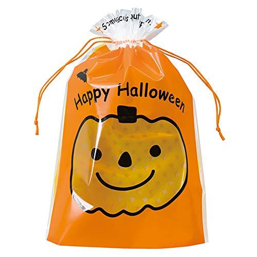ギフトバッグ 巾着袋 HW ハロウィン かぼちゃ-M (20枚) HW-2NS