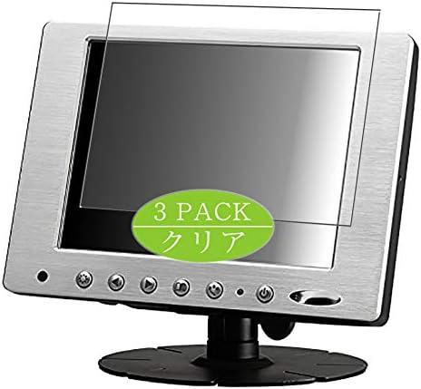 Vaxson 3 stuks beschermfolie compatibel met Xenarc 800YV 8 inch display monitor displaybescherming beeldschermbescherming zonder luchtbellen niet pantserglas
