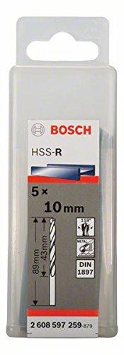 Bosch Professional Karosseriebohrer HSS-R rollgewalzt (5 Stück, Ø 10 mm)