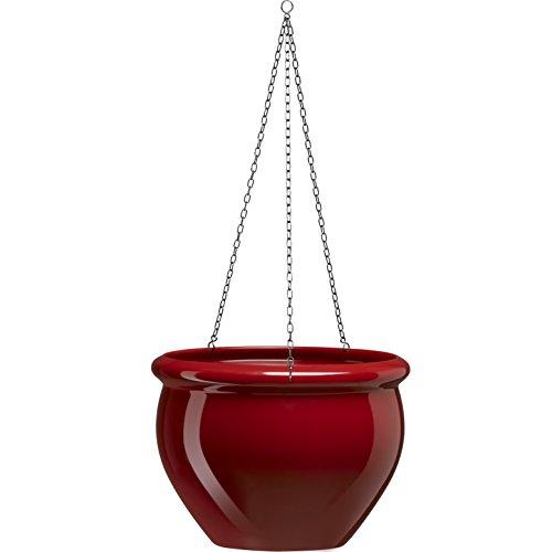 Emsa 508684 - Maceta Colgante para Plantas, Color rubí, 26 x 19 cm