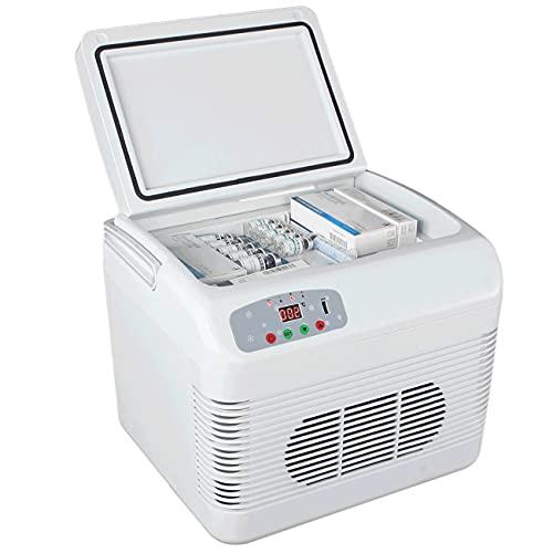 EXEDSCEND 15L Refrigerador portátil, Mini refrigerador Frigorífico Congelador, Droga Insulina Vacuna Refrigerador Temperatura Constante Frigorífico, Coche Inicio Viajes Camping Picnic