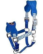 PFIFF 102433-149-Pony - Cabestro de plástico para Caballo (Talla S), Color Azul y Morado