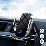 Kabelloses Auto Ladegerät,FDGAO Automatische Sense Klemmung 15W Kabellose Kfz-Ladegeräte magnetisches Laden Handyhalterung für iPhone 11/12/XR/XS/X, Galaxy S20/S10/S9/Note (mit 3 magnetisches Stecker)
