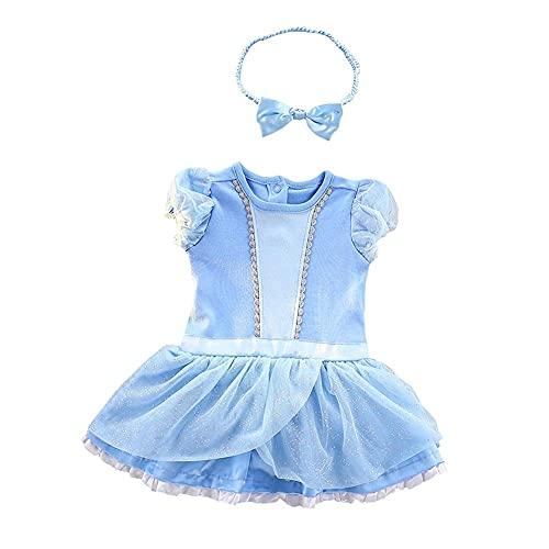 Dressy Daisy Baby Girls Princess Onesie Costume Bodysuit Romper Halloween Costume Size 9-12 Months