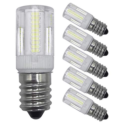 E14-delige led-gloeilampen, decoratieve verlichting, 2 W, dimbaar daglicht, wit, 6000 K, SES, kleine Edison kandelaar, schroeffitting, 20 W, equivalent energiebesparende LED-gloeilampen, 5-pack [meerdere weg]