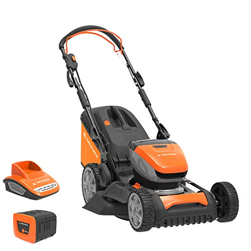Yard Force 40V 46cm Self-Propelled Cordless Lawnmower with 5AH...