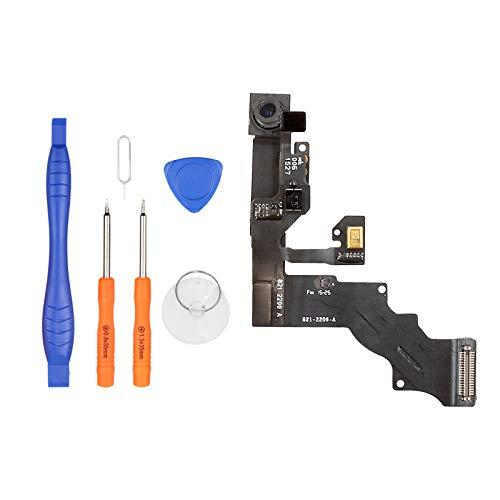 LL TRADER Fotocamera Frontale per iPhone 6 Plus, Fotocamera Anteriore di Ricambio con Sensore di Prossimità, Sensore di Luce Ambientale, Cavo Microfono, Cavo Flessibile e Strumenti