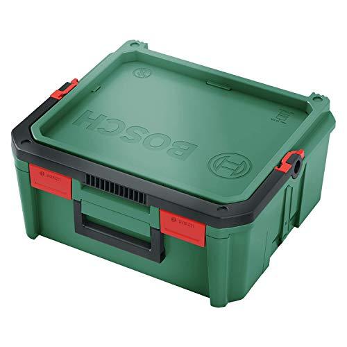 Bosch DIY Tools 1600A01SR4 Gereedschapskist Elektrisch gereedschap, SystemBox | Maat M, compatibel met Bosch-accessoirebox klein en medium, in banderol, groen, M
