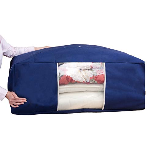 『アストロ 収納ケース 布団一式用(掛け・敷き布団各1枚) ネイビー 羽毛布団 収納袋 不織布 177-06』の1枚目の画像