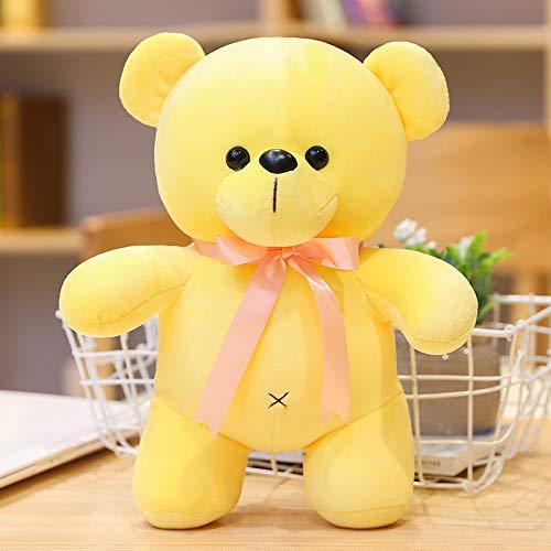 Doinbtoy Muñeca de Peluche de Oso de algodón, muñeca de Boda, Regalo para niños 30CM Amarillo