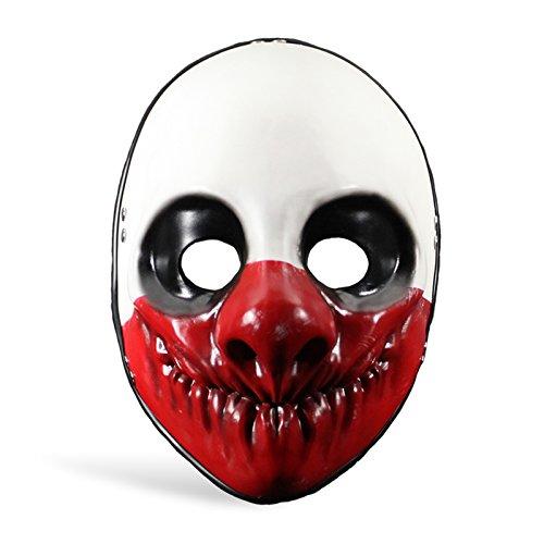 Payday 2 Wolf Bankräuber Maske Kostüm Zubehör Clown Maske aus Actionspiel Vinyl