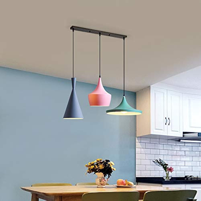 Macaron Stil kreative Persnlichkeit Kronleuchter Restaurant Wohnzimmer Gang Hotel Lampen, Ein Drei-Kopf-Kronleuchter, LED weies Licht