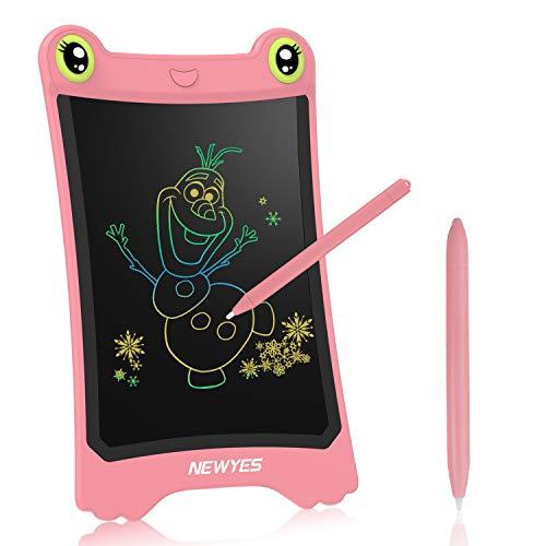 NEWYES Buntes LCD-Schreibtablett, Schreibblock 8,5 Zoll Zeichnen von Tablets Elektronisches Zeichenbrett Gut für Kinder Büro Familie(Rosa)