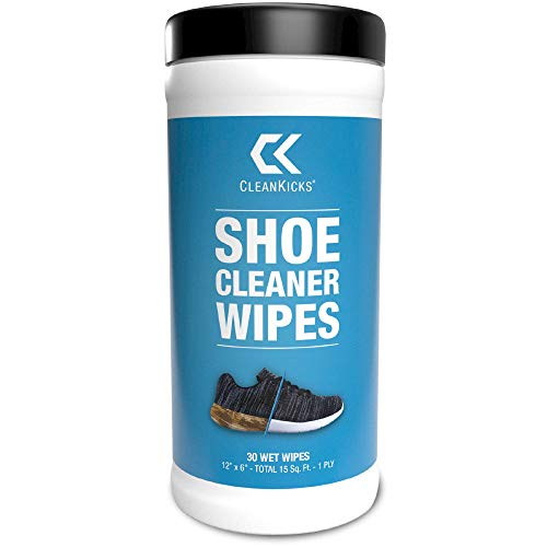 CleanKicks Shoe Cleaner Wipes - Removes Scuffs and Dirt Buildup - (30 Count)