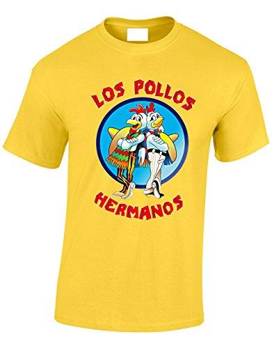 Crown Designs Los Pollos Hermanos Programa de Television del Senor de Las Drogas Inspirado Regalos para Hombres y Adolescentes Camisetas Tops