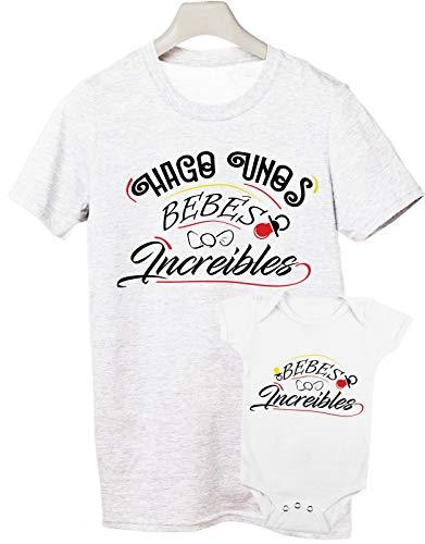 Camiseta y Body Bebé Manga Corta - Bebé increíble - Regalo para Padres y bebés