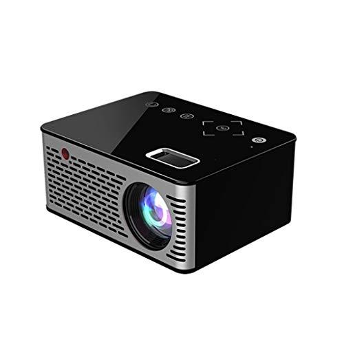 LF stores-overhead-projector, projector voor thuis Mini Home kleiner, aan de muur gemonteerde home theater HD Smart-projector, zwart