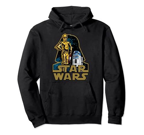 Star Wars C-3PO R2-D2 Droids Of Vader's Shadow Badge Felpa con Cappuccio